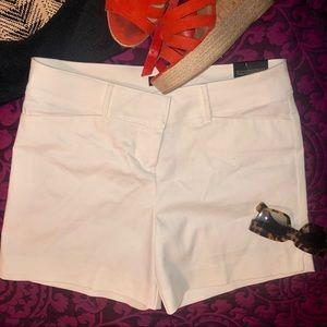 The Limited Shorts - NWT- The Limited White Tailored Shorts
